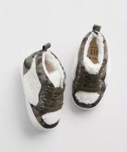 Gap Baby Boy / Toddler Hi Top Sherpa Sneakers Shoes Camo ...