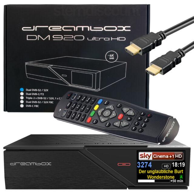 Dreambox DM 920 UHD 4k Receiver 2x Dvb-s2x 1xdvb-c/t2 Eriple Multistream SAT