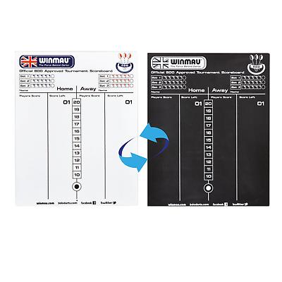 Winmau Dry Wipe Darts Whiteboard /& Chalkboard Scoreboard Markerboard /& 2 Pens