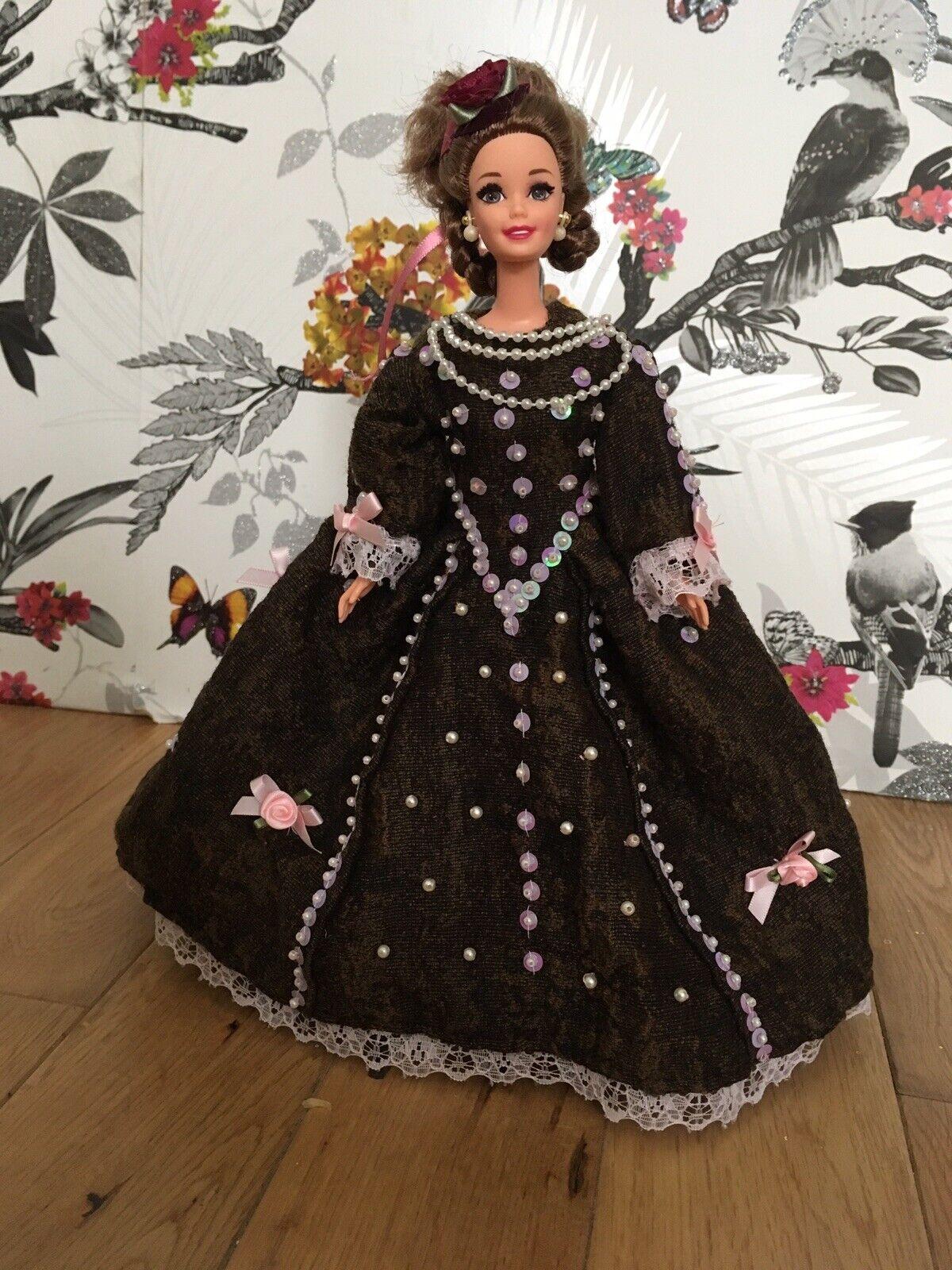 OOAK Handmade Doll Barbie Dress Medieval Elizabeth I Queen Tudor Tudor Tudor Collector Item 377193