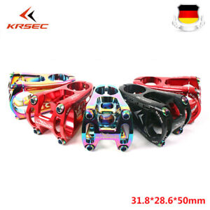 31-8mm-MTB-Lenker-Vorbau-50mm-Aluminum-1-1-8-034-Fadenlos-Fahrrad-Gabel-Superleicht