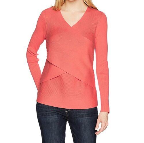 Foxcroft Women/'s Silvia Waist Wrap Sweater Large Sunset Coral XL
