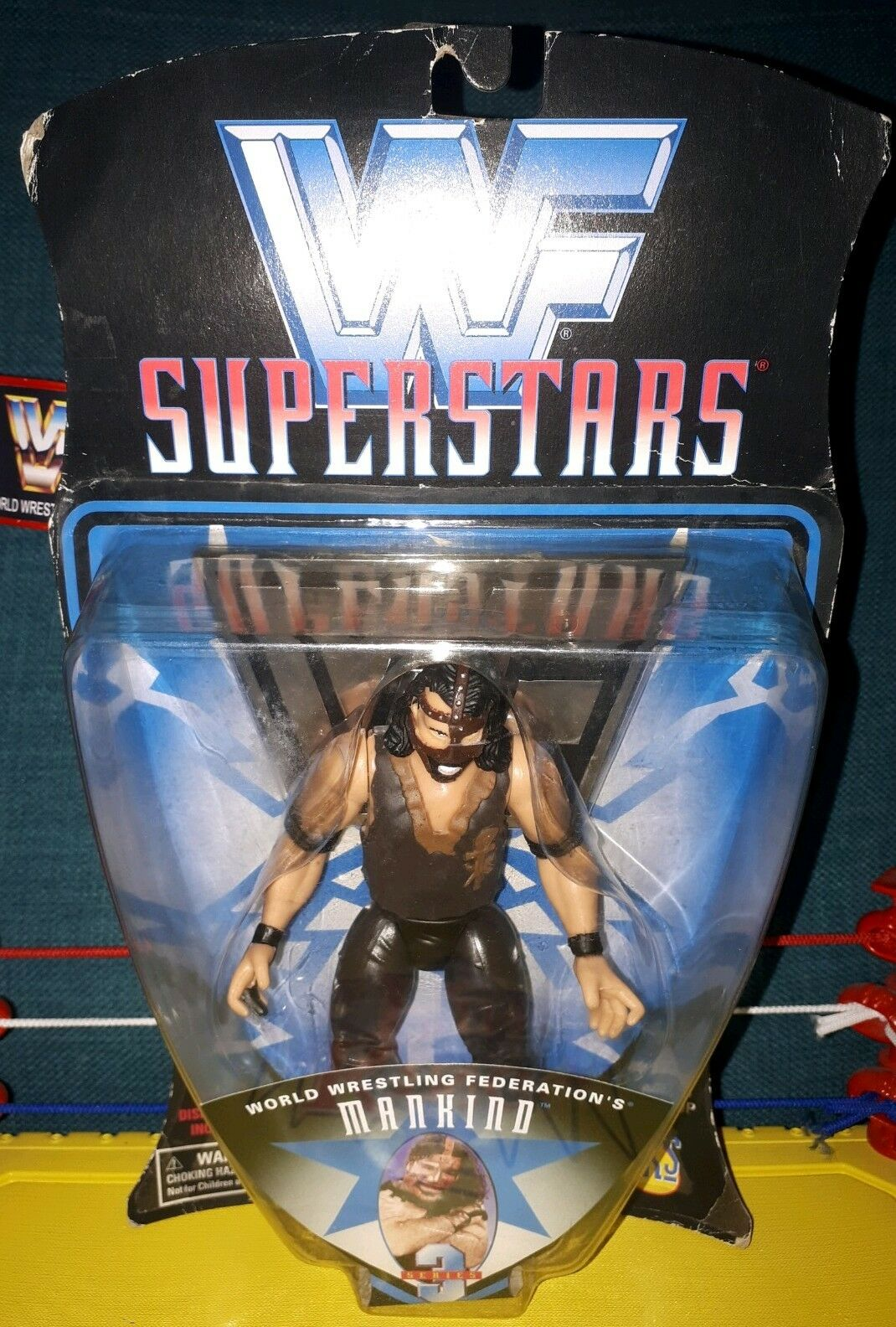 WWF SUPERSTARS MANKIND - JAKKS WWE MOC, NEW