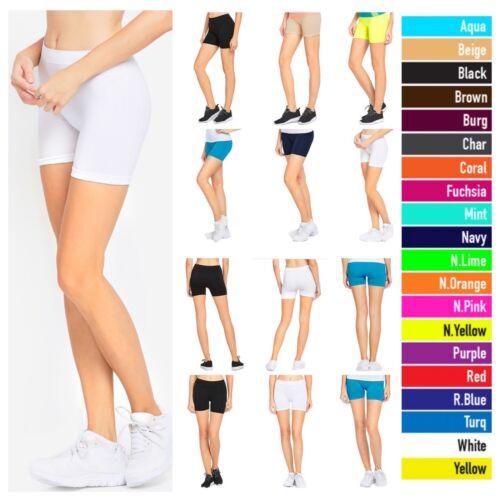 1 3 6 Pack Women Legging Lot Sports Yoga Shorts Workout Bike Jogging Gym Active