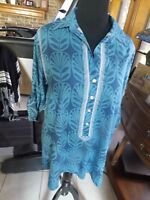 Sigrid Olsen Studio 100% Cotton Tunic Blouse In Size L/xl Cut Very Big And Is L