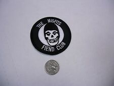 The Misfits Fiend Club Round Danzig IRON/SEW ON EMBROIDERED PATCH NEW