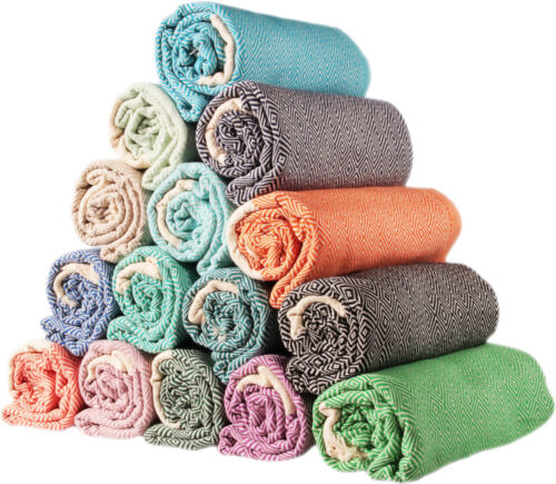 Sale Set of 5 EXTRA LARGE 100 /% Turkish  Cotton Diamond Design Bath Towels set
