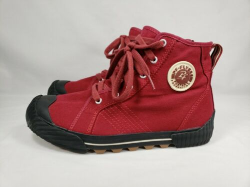 PF Flyers Grounder II Red Canvas High Top Boots Me