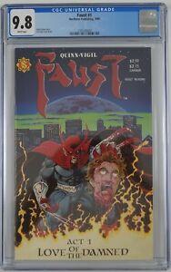 Faust #1 CGC 9.8 Tim Vigil cover art David Quinn Northstar white pages 1st print