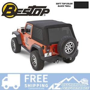Best Top Jeep >> Details About Bestop Trektop Nx Glide Soft Top 07 18 Jeep Wrangler Jk 2 Door Black Twill