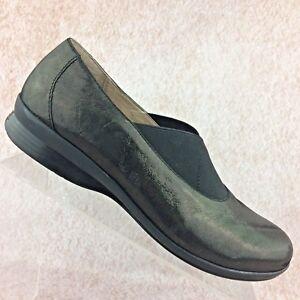 055c07e000b Dansko Women s Ann Slip On Elastic Shoes Loafers Metallic Leather 40 ...