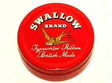 Swallow Bird Typewriter Ribbon Tin 1930s