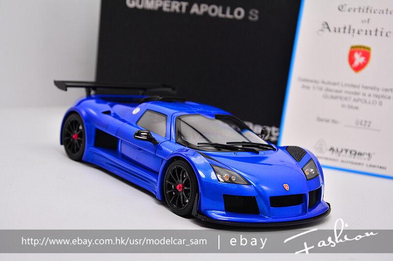 Autoart 1 18 Gumpert Apollo s bleu