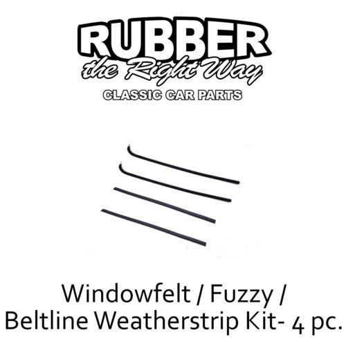 Fuzzy Kit 1951 1952 1953 1954 Chevy GMC Truck Panel Suburban Window Felt