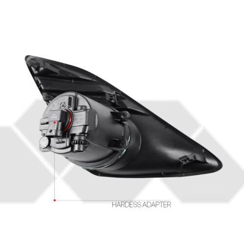 Fits 2012-2014 Toyota Camry Clear Bumper Fog Light w//Switch+Harness+Black Bezel