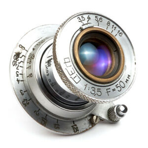 Industar-10-Fed-3-5-50mm-Sowjetische-Elmar-zusammenklappbar-Objektiv-USSR-Leica-LTM-l39-m39