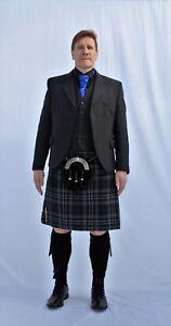 Mens-Scottish-Arrochar-Wool-Argyle-Kilt-Jacket-5-Button-Waistcoat