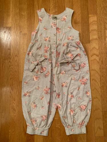 Vintage Laura Ashley Girls Jumper Jumpsuit Floral