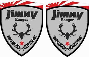 Suzuki-Jimny-Ranger-4x4-sz3-sz4-decals-sticker-70mm-wing-Decals-Stickers