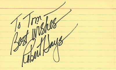 Obliging Robert Hays Actor 1980 Tv Movie Autographed Signed Index Card Movies Autographs-original