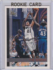 Details About Tim Duncan Rookie Card 199798 Topps Rc Basketball San Antonio Spurs Retired