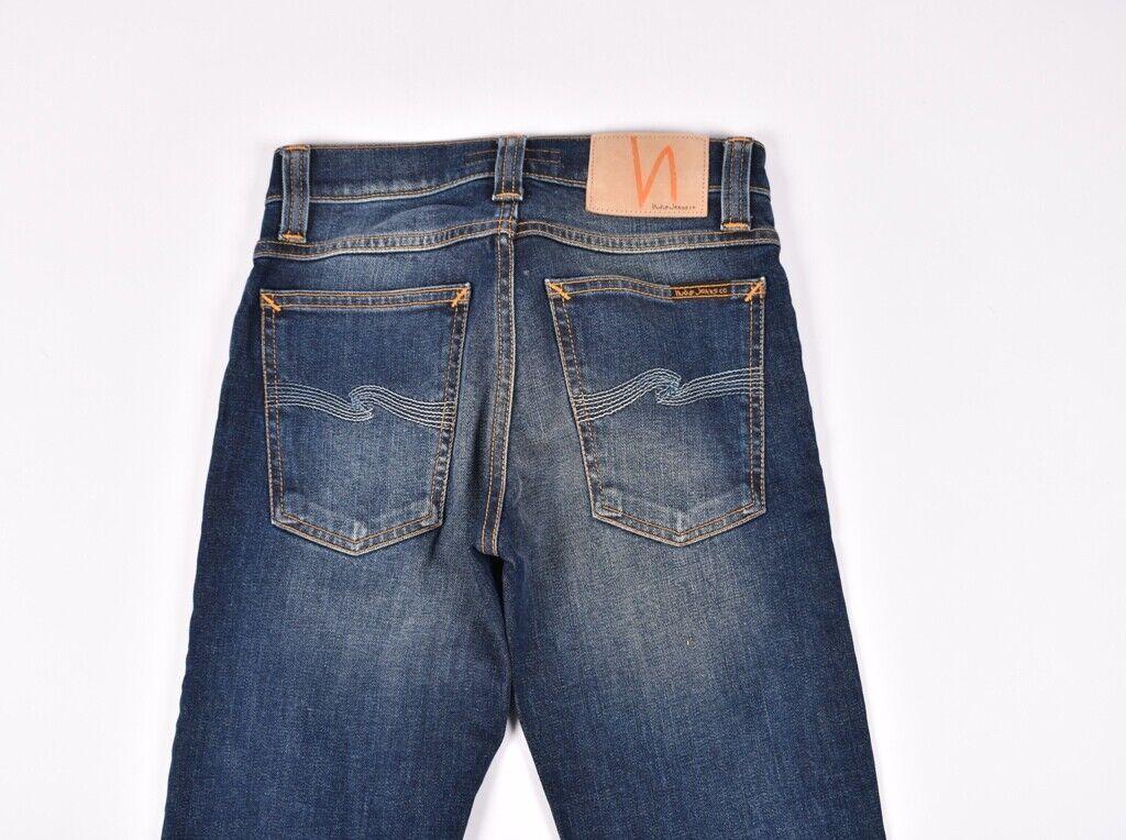 Nudie Rohr Kelly Org. Dunkles Indigoblau Damen Jeans Größe 24 32