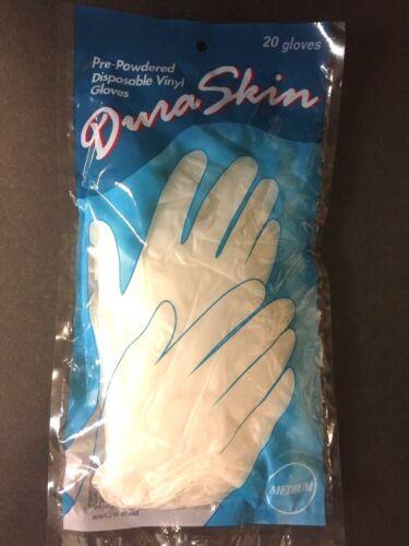Free shipping Pre-Powdered Vinyl Disposable Gloves DuraSkin 20 Gloves