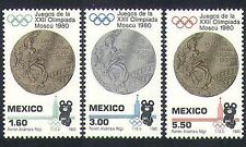 Mexico 1980 Olympic Games/Olympics/Sports/Medals/Bear/Animation 3v set (n34241)