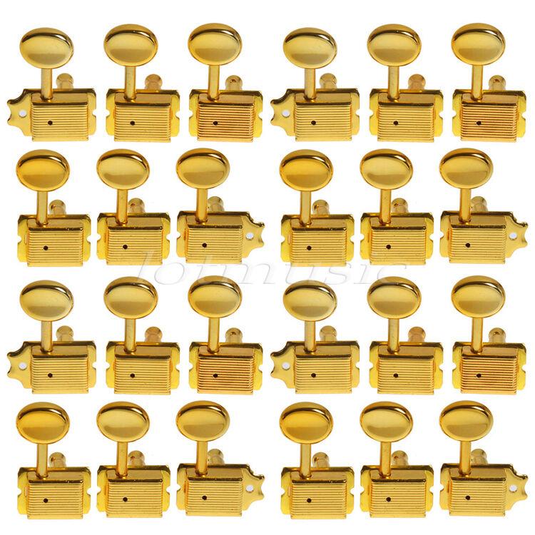 4 Sets Gold Guitar String Inline Vintage Tuning Pegs Keys For Fender Strat 6R