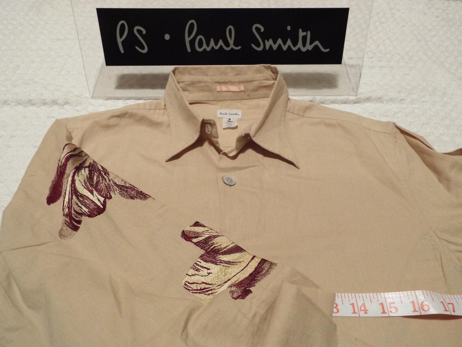 Paul Smith Da Uomo Camicia  taglia S (circonferenza petto 38 )  RRP +  Floreale Stitch vintage