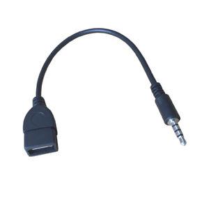K04-USB-OTG-Adapterkabel-Jack-3-5mm-Stecker-auf-Typ-A-Buchse-AUX-fuer-MP3-Player
