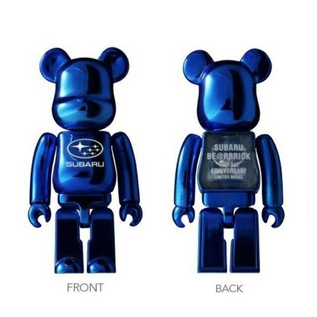 New Subaru BE@RBRICK BEARBRICK L//E MODEL Blue Figure Kawaii Medicom Toy
