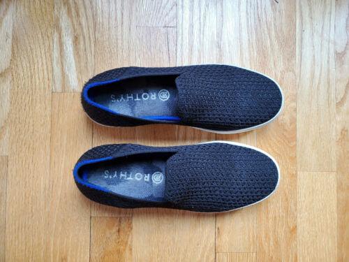 Rothys Black Honeycomb Loafers- Size 8- EUC