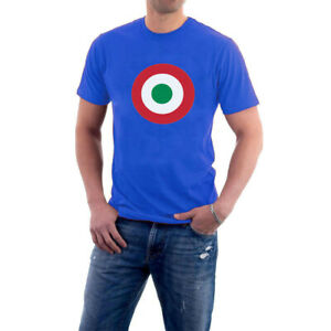 Italian-Mod-T-shirt-Target-Italy-Air-Force-Roundel-S-5XL-Sillytees