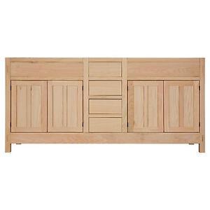 Signature Hardware 72 Unfinished Mission Hardwood Vanity Cabinet