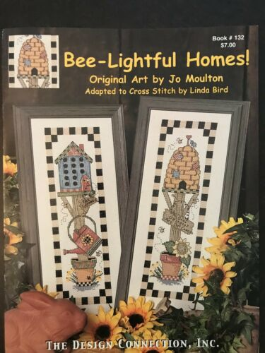 Bee-Lightful Homes!,Cross Stitch Book Cross Stitch Patterns