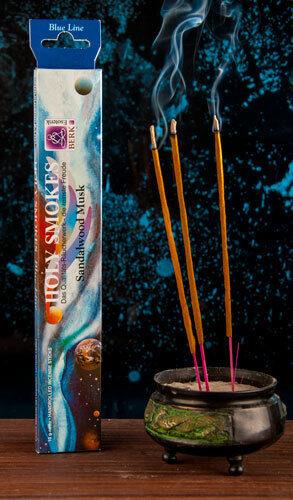 Räucherstäbchen Sandelholz Moschus Blue Line 10 g Feng Shui natürliche Düfte