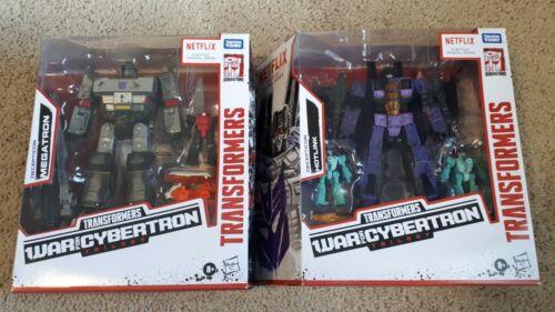 2020 Transformers War For Cybertron Netflix MEGATRON HOTLINK 3-Pack Lot of 2