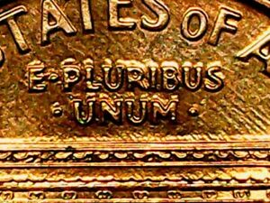 1993 DDR Error Penny Doubled Die Reverse / Red Lincoln ...
