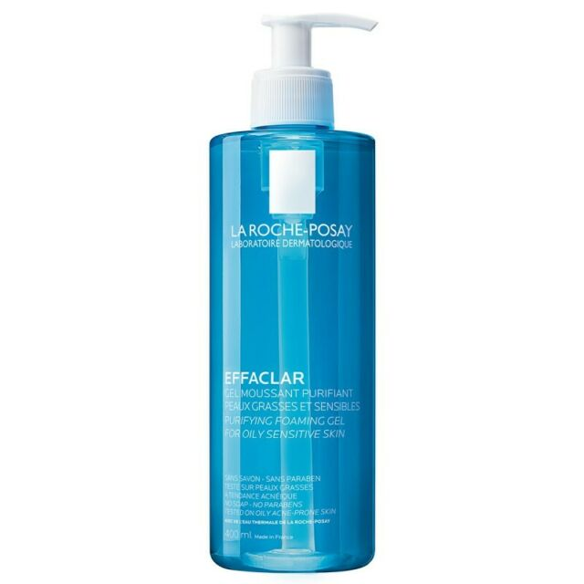 La Roche-Posay EFFACLAR -Gel limpiador purificante- SIN JABÓN, pH 5.5- 400mL