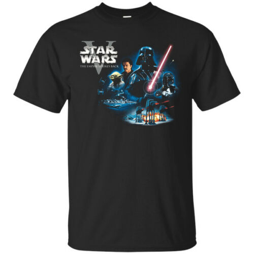 Star Wars The Empire Strikes Back Black Men's T-Shirt Tee