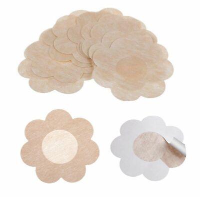 10 x ADHESIVE NIPPLE COVERS Flower Shaped Modesty Pads Bra Less Nude UK STOcK