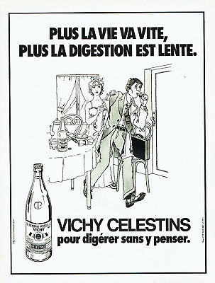 Other Breweriana Publicité Advertising 107 1979 Vichy Celestins Eau Minérale Digestion Lente *