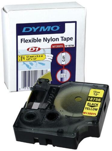 Schriftband schwarz auf metallic 12mm//5,5m für Rhino 4200//5000//5200//