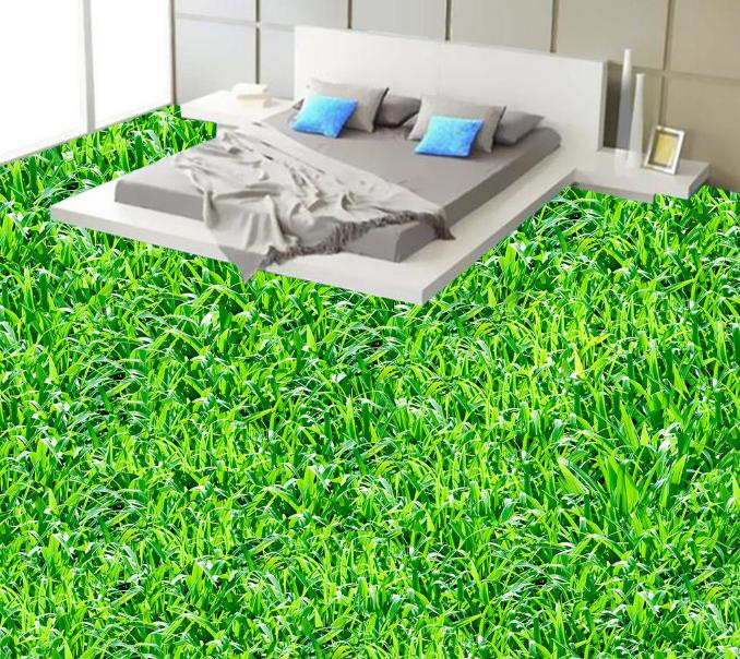 3D Grün Grass 4 Floor WallPaper Murals Wall Print 5D AJ WALLPAPER AU Lemon