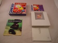 Ms. Pac-Man (Nintendo Game Boy 1993) COMPLETE w Box manual game WORKS! Miss Mrs.