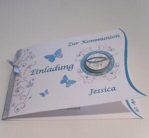 Schön Das Bild Wird Geladen Einladungskarten Einladung Zur Kommunion Taufe  Konfirmation In Weiss