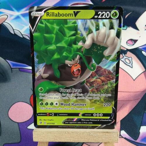 Pokemon SWSH Rebel Clash 017//192 Half Art Ultra Rare Rillaboom V NM
