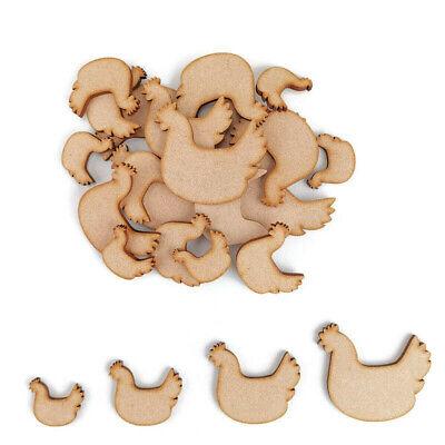 10 Wooden Chicken Hen Egg Shape HAPPY EASTER Blank Craft Embellishment Decor