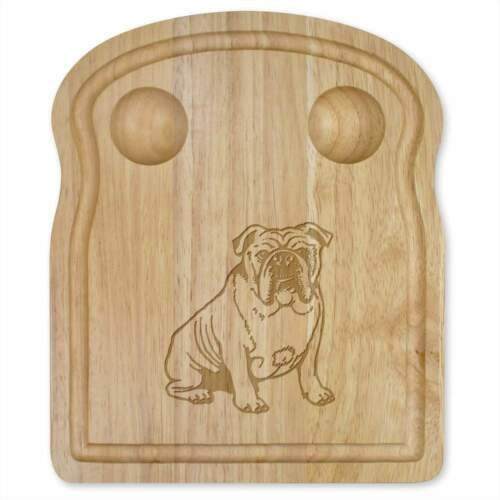"/""Bulldog Anglais/"" en Bois Petit Déjeuner Board WB00028640"